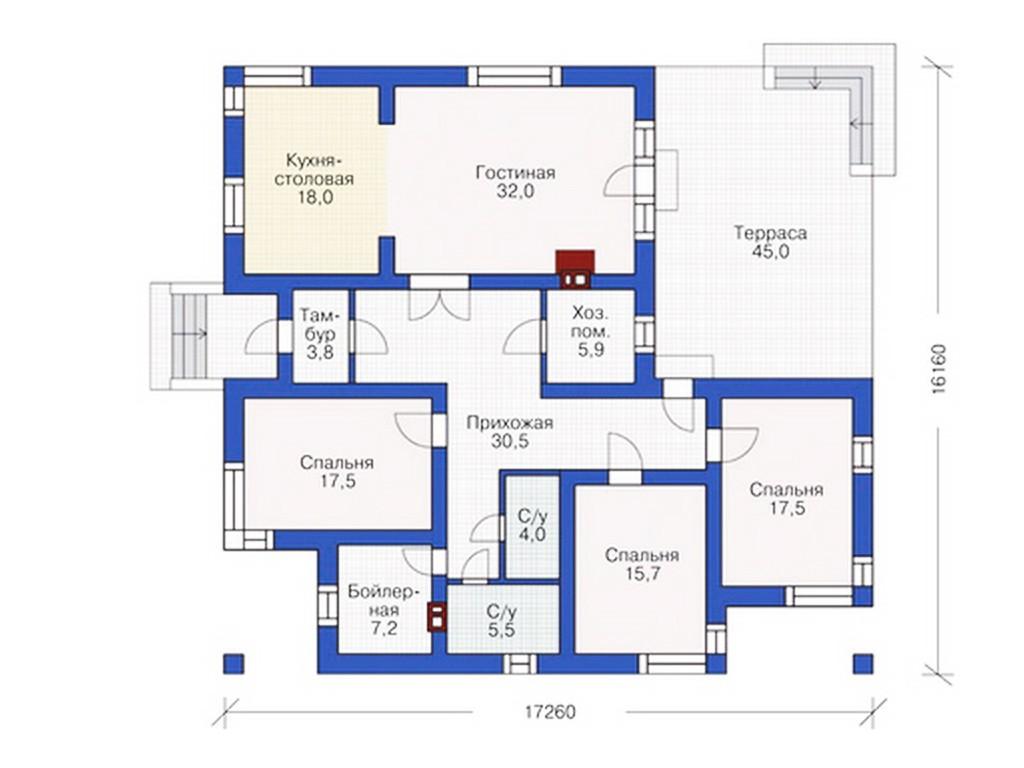 проект дома DNV097