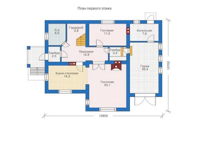 проект дома DNV091