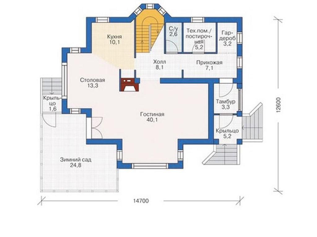 проект дома DNV089