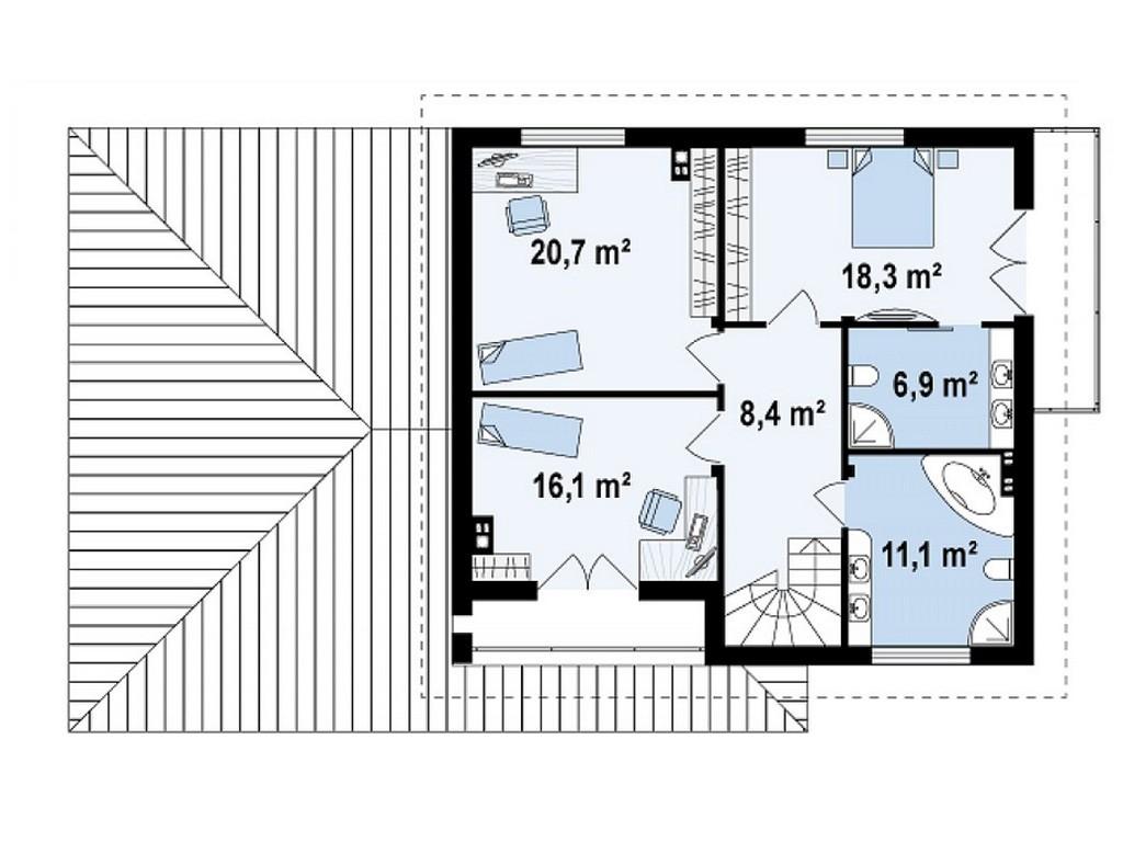 проект дома DNV070