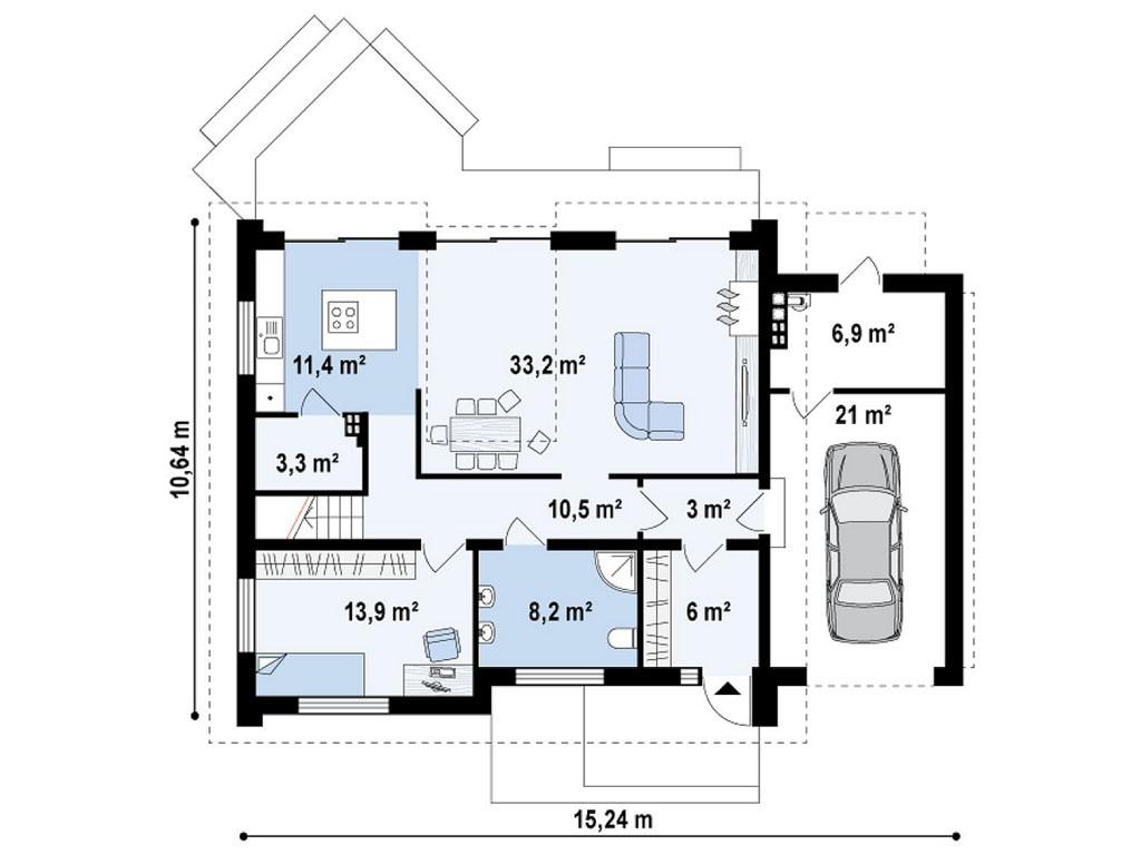 проект дома DNV066