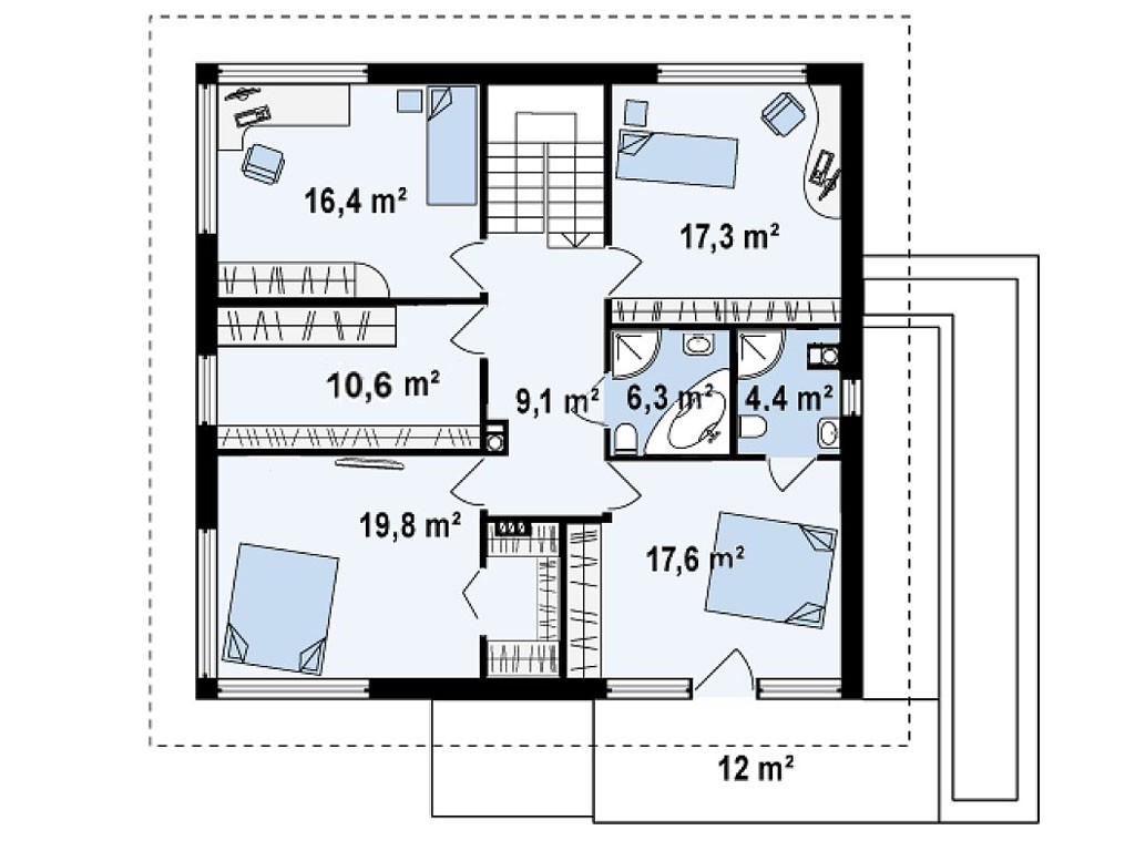 проект дома DNV065