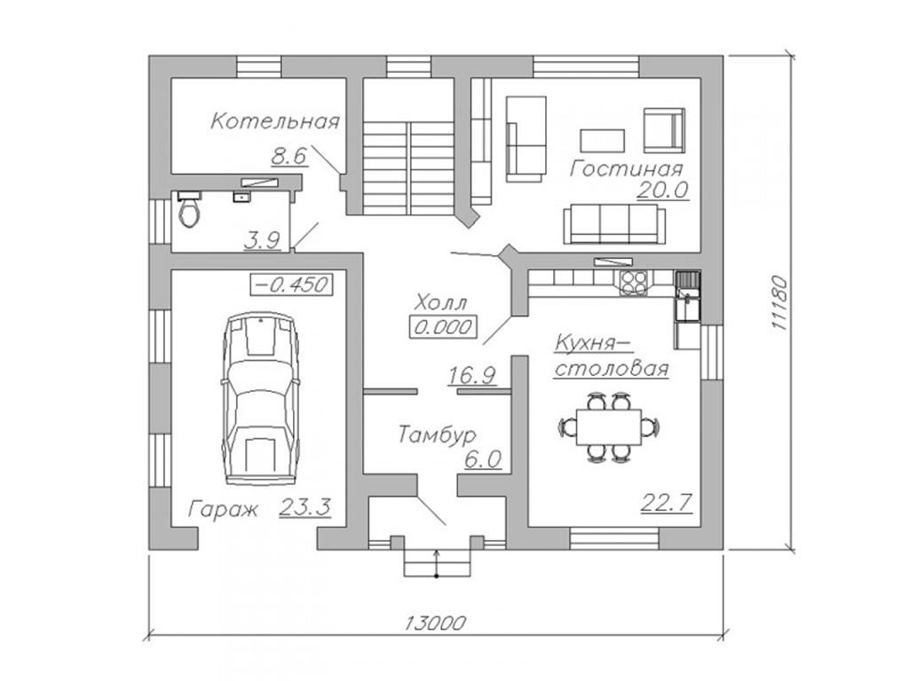 проект дома DNV062