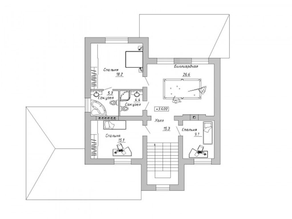 проект дома DNV057