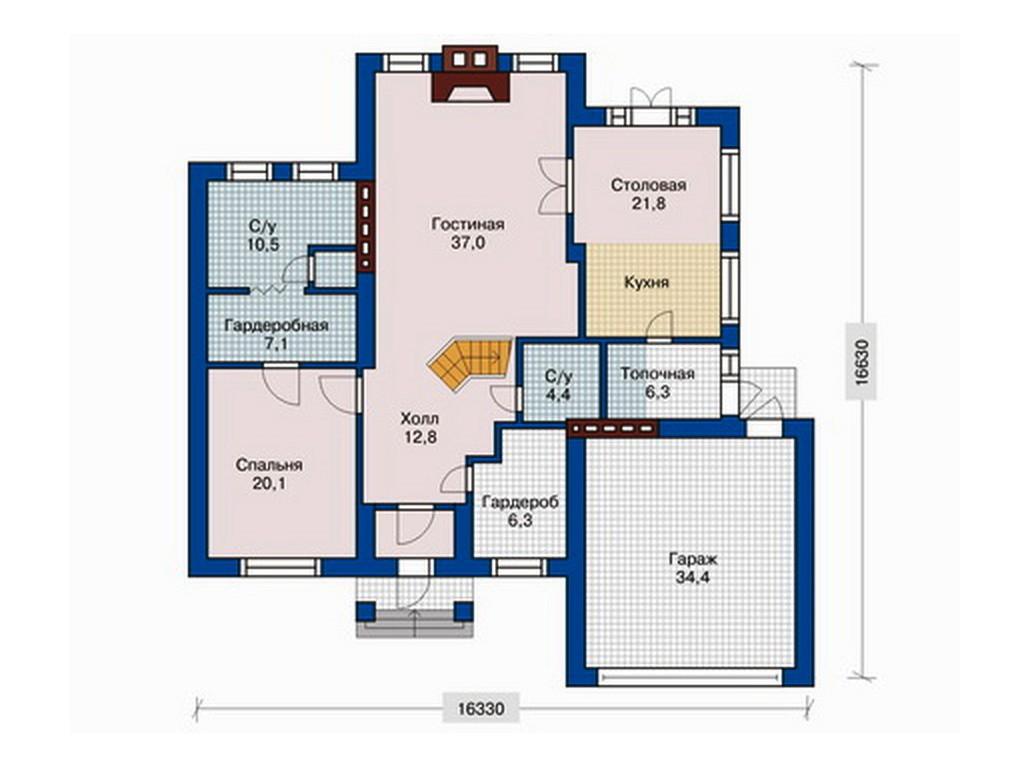 проект дома DNV052