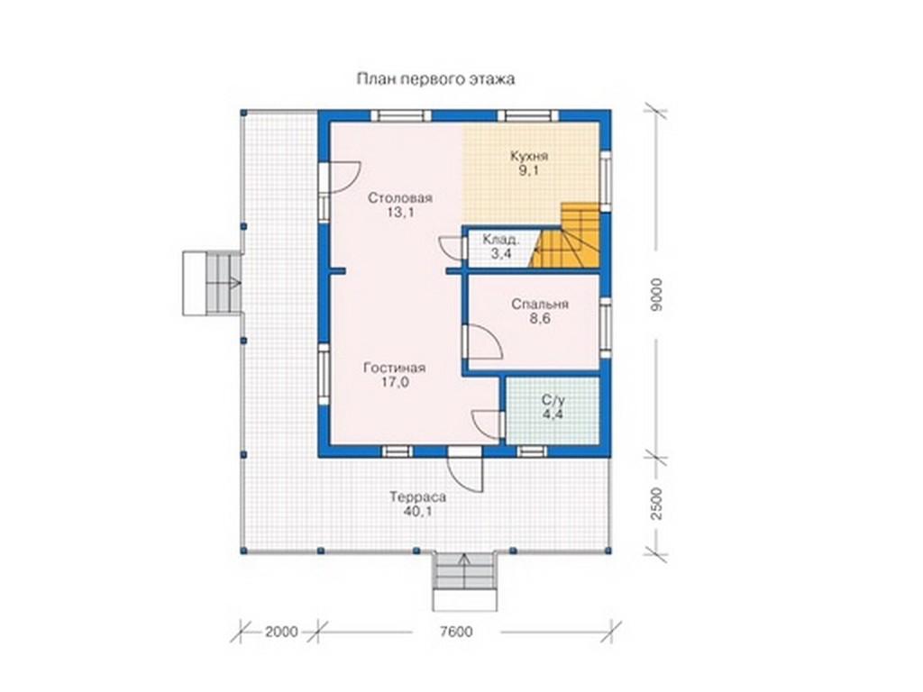 проект дома DNV041