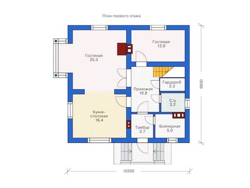 проект дома DNV037
