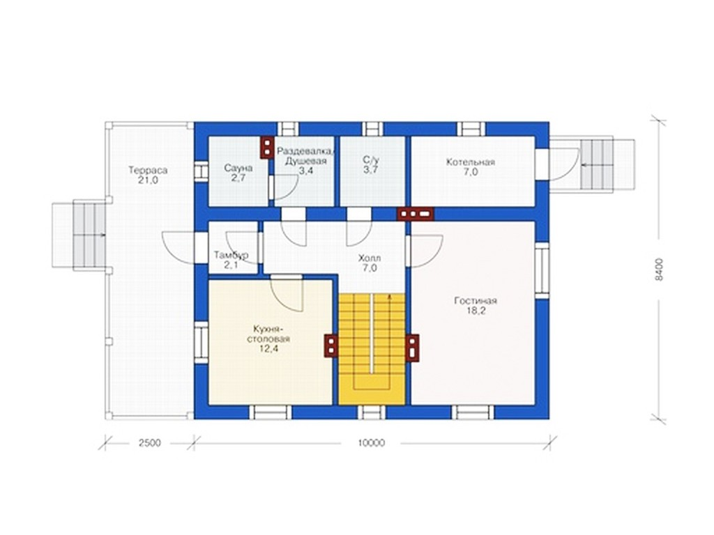 проект дома DNV035