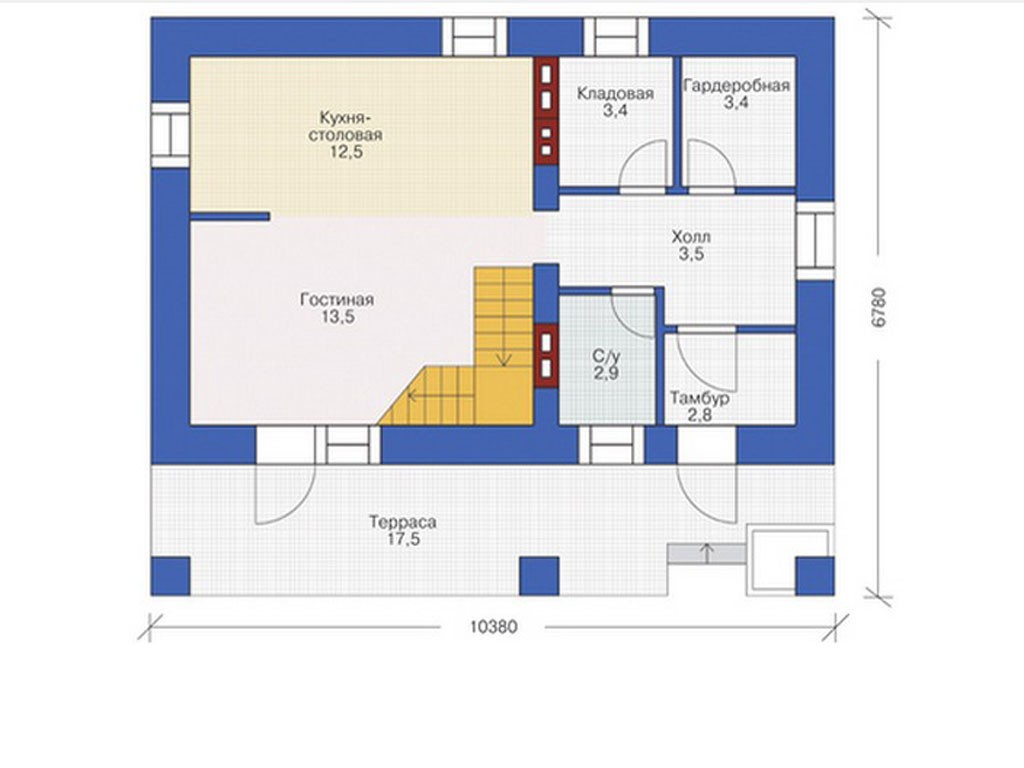 проект дома DNV012